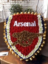 Arsenal Badge Funeral Flowers